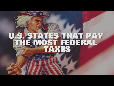 Top 10 US States That Pay The Most Federal Taxes 2014