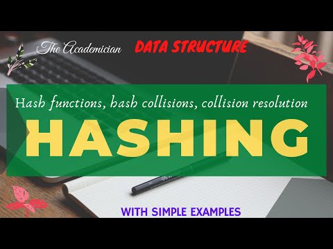 Hashing: Hash functions, hash collisions, collision resolution with C Program