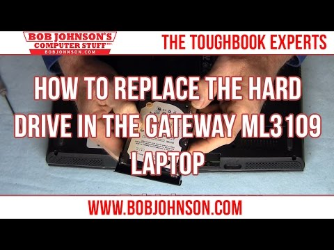 How to replace the Hard drive in the Gateway ML3109 Laptop