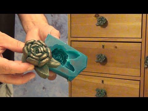 Cold Cast bronze Drawer Pulls Resin Casting tutorial