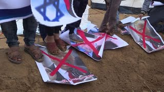 "#x202b;مقتل فلسطيني في قصف اسرائيلي على قطاع غزة قبل بدء ""مسيرة العودة""#x202c;lrm;"