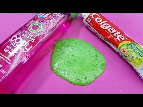 Body Wash and Colgate Toothpaste Slime , How to Make Slime Wash Salt and Toothpaste, NO GLUE !!
