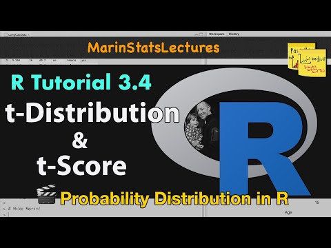 t Distribution and t Scores in R (R Tutorial 3.4)