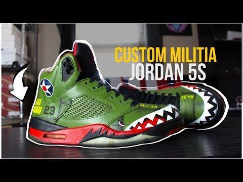 CUSTOM MILITIA JORDAN 5's/RESTORATION