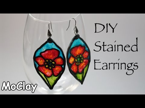 How to fake stained glass earrings - DIY jewelry making tutorial