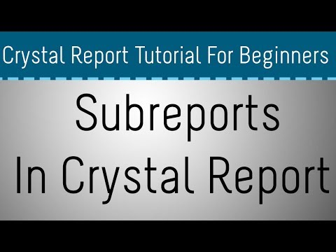 How to Create Subreport in Crystal Report - Part 04