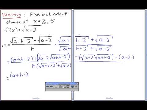 MCV4U - Difference Quotient - Part 3 of 5