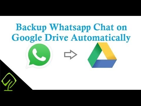 How to Backup Whatsapp chat Database to Google Drive Automatically Everyday (Android)