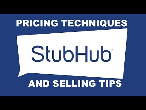 Stubhub & Ticketmaster: 5 Pricing Techniques and Tips for selling tickets.  Watch the presale!