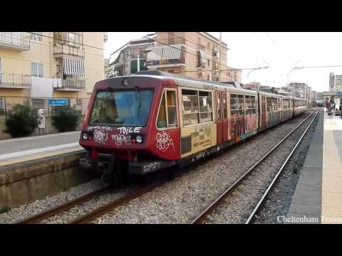 Circumvesuviana trains in Italy August 2016