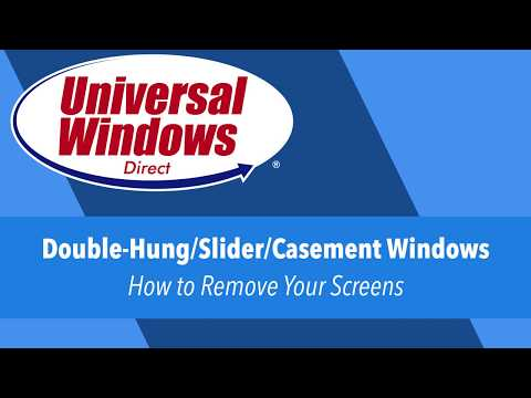 How to Insert & Remove Your Window Screen