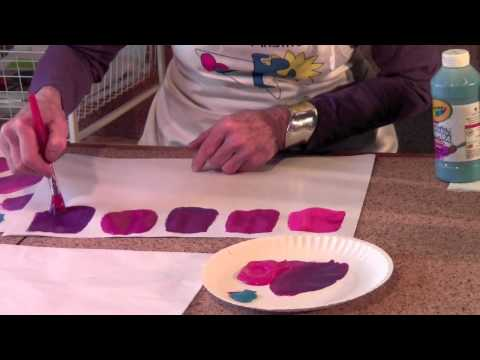 Color mixing with Annie Painter ... Violets, lesson 3
