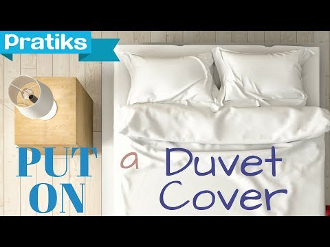 Great trick to put your duvet cover on