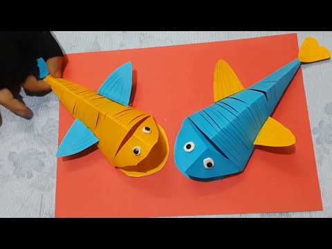 How to Make DIY Moving Paper Fish Tutorial | Cute Easy Shark Fish For Kids
