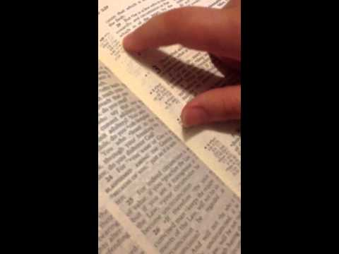 How to find verses in a Bible
