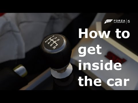 How to get inside the car on Forza 5 with the camera