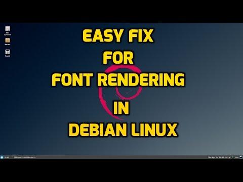 Easy Way to Improve Font Rendering in Debian Linux