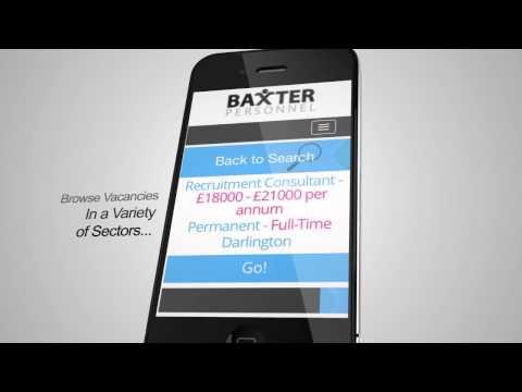 Baxter Personnel Mobile Website