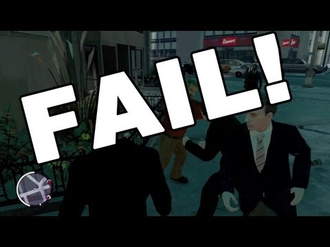 Grand Theft Auto 4 - Street Fight Police FAIL!