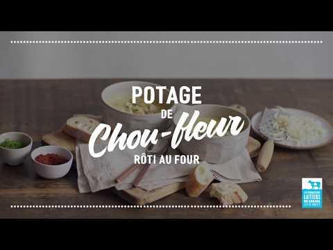 Potage de chou-fleur rôti au four   Calendrier du lait 2018