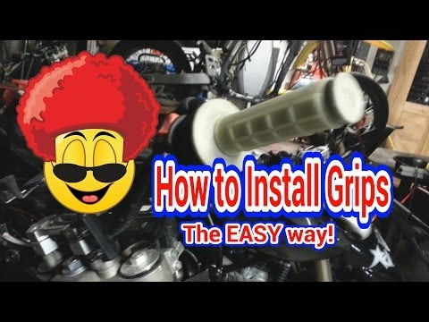 How to Install Motorcycle Grips. The Easy Way!
