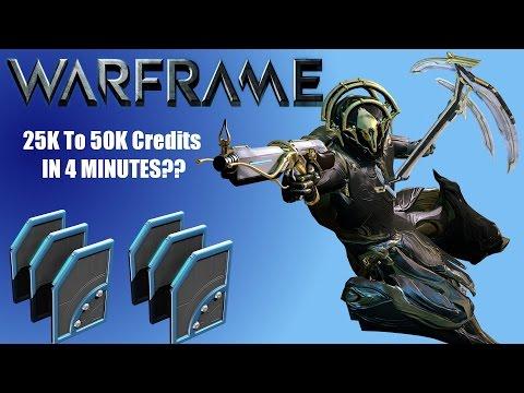 Warframe Credit Farm 25k to 50k Credits In 4min??
