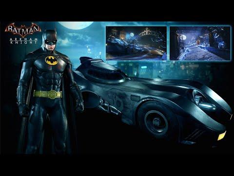 Batman Arkham Knight DLC showcase 1989 Movie Batmobile Pack