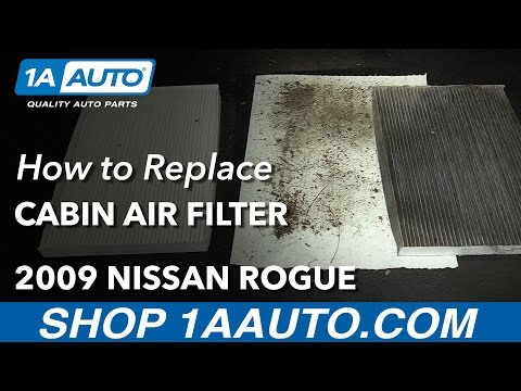 How to Install Replace Cabin Air Filter 2008-13 Nissan Rogue