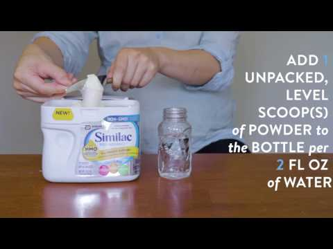 How to make a baby bottle of Similac® formula.