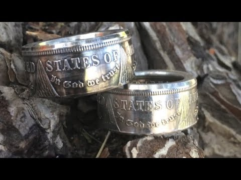 How To Make A Double Sided Coin Ring From A Silver Dollar! Step By Step Tutorial