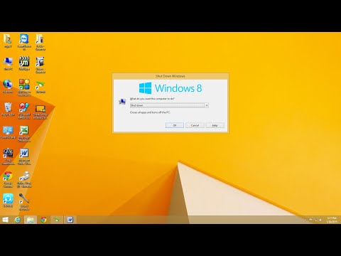 Shortcut Key to Shut Down Windows 8 & 8.1 PC or Laptop