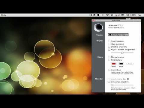 How to make your mac menu bar black.