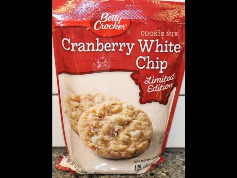 Making Betty Crocker Cranberry White Chip Cookies