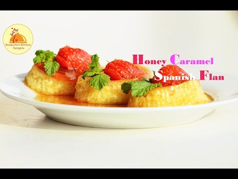 Honey Caramel Spanish Flan / Caramel Pudding / Party Dessert / Mini flan / Easy to make