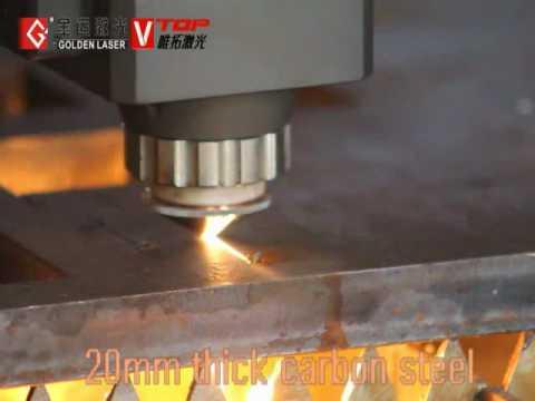 3000w GF-1530JH fiber laser cutting 20mm carbon steel sheet