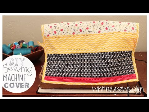 Quilted Sewing Machine Cover How to - Whitney Sews