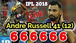 IPL 2018   Andre Russell Hits 41 Runs Off 12 Balls Against Delhi Daredevils