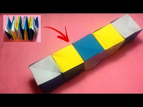 How to make a magic paper cube box | magic box origami | gift box paper tutorials