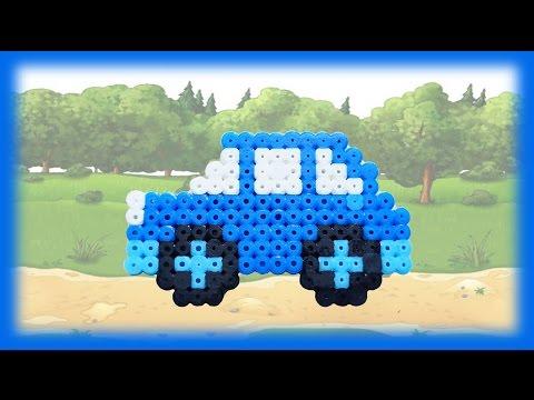 TUTORIAL Hama Beads Pyssla Perler Beads. How to Make a car