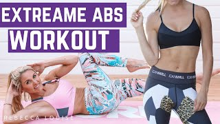 EXTREME ABS - burn belly fat fast! | Rebecca Louise