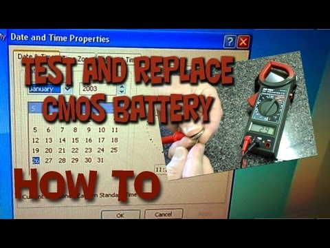 How to: Test and Replace Computer CMOS Button Cell Battery