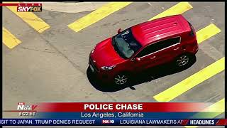 WEIRDEST POLICE CHASE: Police TAKE DOWN Suspect in Los Angeles