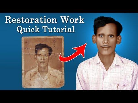 Restoration work quick tutorial Photoshop 7.0
