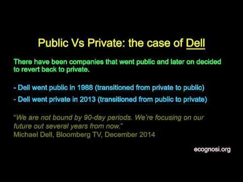 Public Vs Private: the case of Dell