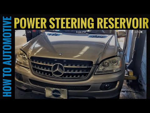 How to Replace the Power Steering Pump Reservoir on a 2005-2011 Mercedes ML 350 W164