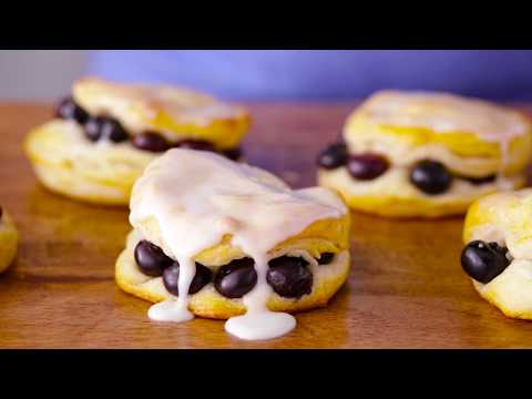 Blueberry Biscuits with Sweet Lemon Glaze | Pillsbury Recipe