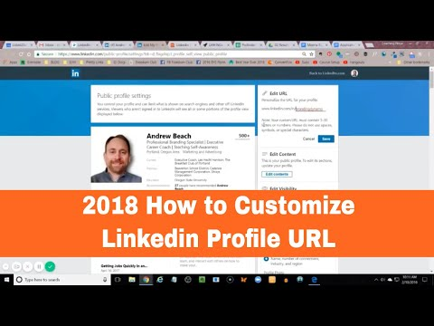 Linkedin Profile URL Customize your 2018 Website Address