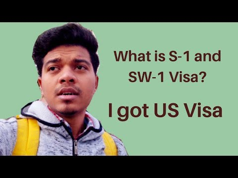 What is S-1 and SW-1 Visa? I got US Visa | I am taking Internship