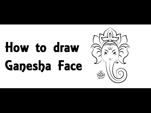 How to Draw Lord Ganesha Face Drawing step by step