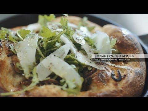 Thyme - Wild Mushroom Cast Iron Pizza